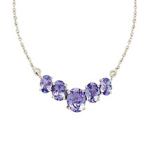 Wonderful Classic Shiny Tanzanite Gemstone 925Sterling Necklace Jewelry SHNL0046 - $31.70