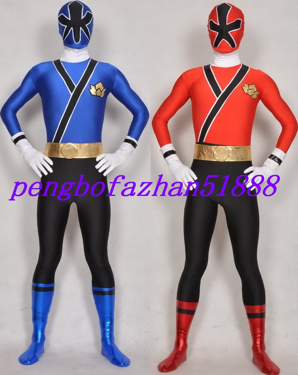 Primary image for 2 COLOR FANTASTIC POWER RANGER SUIT CATSUIT COSTUMES HALLOWEEN COSPLAY SUIT S579
