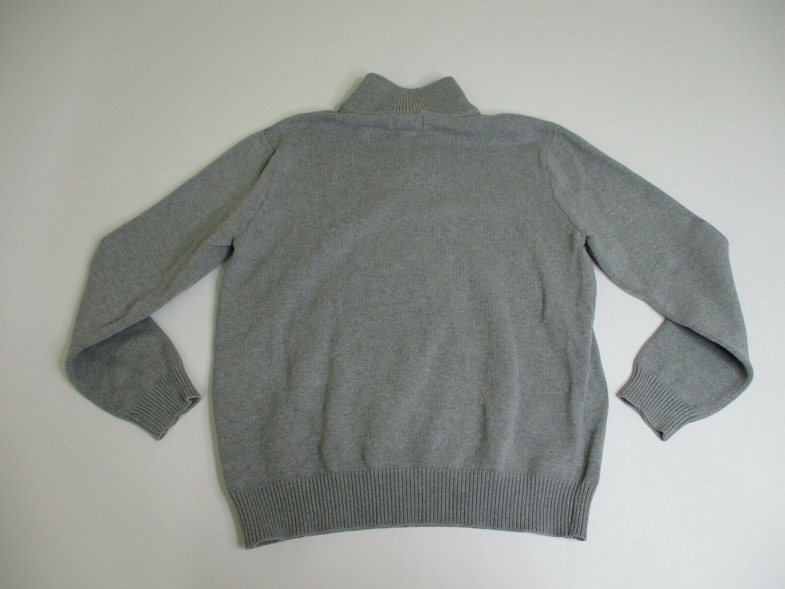 Polo Jeans Co. Pullover Sweater Men Medium 1/2 Zip Leather Pull Tab