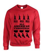 Adult Crewneck American Christmas Ugly Sweater Love USA Top - $17.94 - $19.94