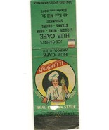HUB CAFE  AKRON OHIO   Front Strike Matchbook cover 484 - $4.00