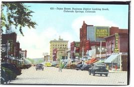 Tejon Street Business Colorado Springs Colorado   Postcard  1.208 - $6.00