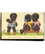 "Black Americana,    Ah""s bout as mad as ah can be     Linen POSTCARD  2.166 - $6.00"