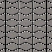 Mosaic tile massiv metal Titanium Smoke brushed dark grey 1,6mm thick AL... - $855.49