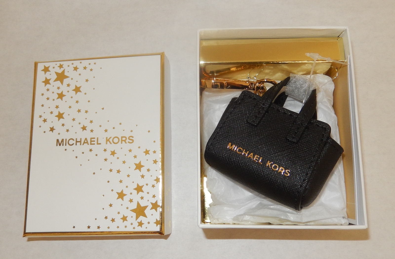 Primary image for MICHAEL KORS SELMA KEY CHARM AUTHENTIC NWT  IN BLACK
