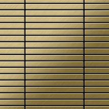 Mosaic tile massiv metal Titanium Gold brushed gold 1,6mm thick ALLOY Li... - $722.20