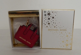 Michael Kors Selma Key Charm Authentic Nwt  In Cherry - $48.99