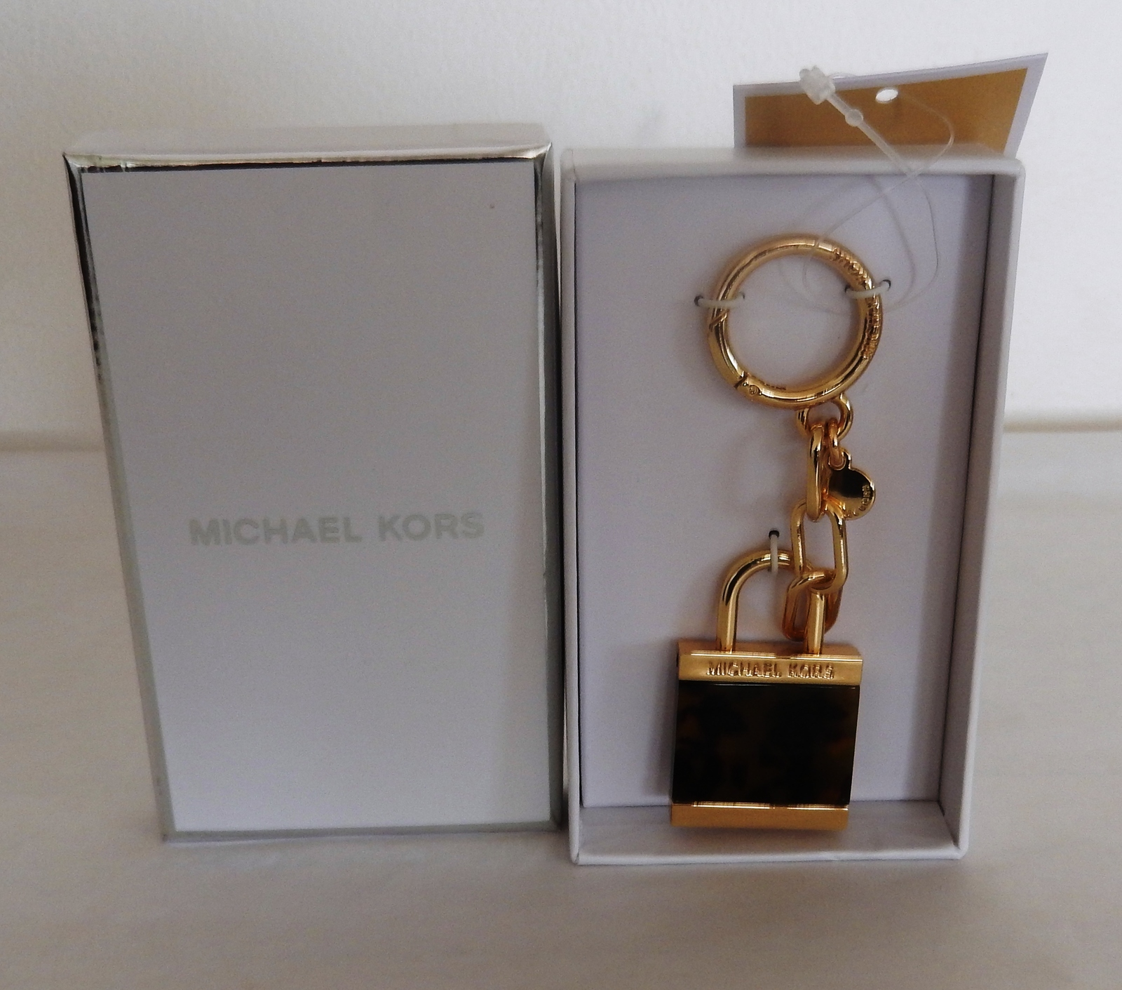 Primary image for MICHAEL KORS EXTRA LARGE LOCK CHARM IN TORTOISE COLOR AUTHENTIC NWT