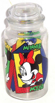 Disney Mickey Mouse  Minnie Donald Duck Glass Candy Jar Cookies Snacks A... - $34.95