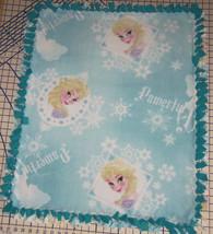 "Disney Frozen Elsa Powerful Beauty Aqua Fleece Baby Blanket Pet Lap 30"" ... - $39.95"