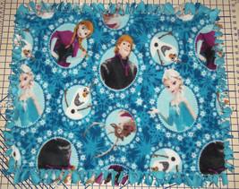 "Disney Frozen Elsa Anna Kristoff Blue Fleece Baby Blanket Pet Lap 30"" x 34"" - $39.95"