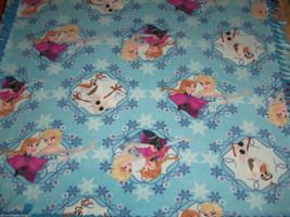 Disney Frozen Elsa Olaf Anna Snowflake Blue Fleece Baby Blanket Pet Lap ... - $39.95