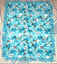 "Disney Frozen Olaf Snowflakes Blue Fleece Baby Blanket Pet Lap 30"" x 34"" - $39.95"