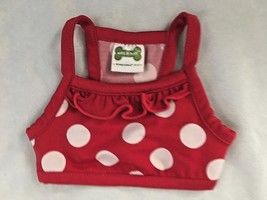 "Red Dotted 5.5X6"" (Laying Flat) Stretch Pet Shirt - $5.81"