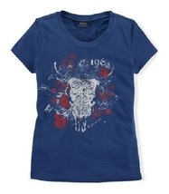 Ralph Lauren South West Graphic Girls T-Shirt, Size 4T, Carlyle Blue - $19.00