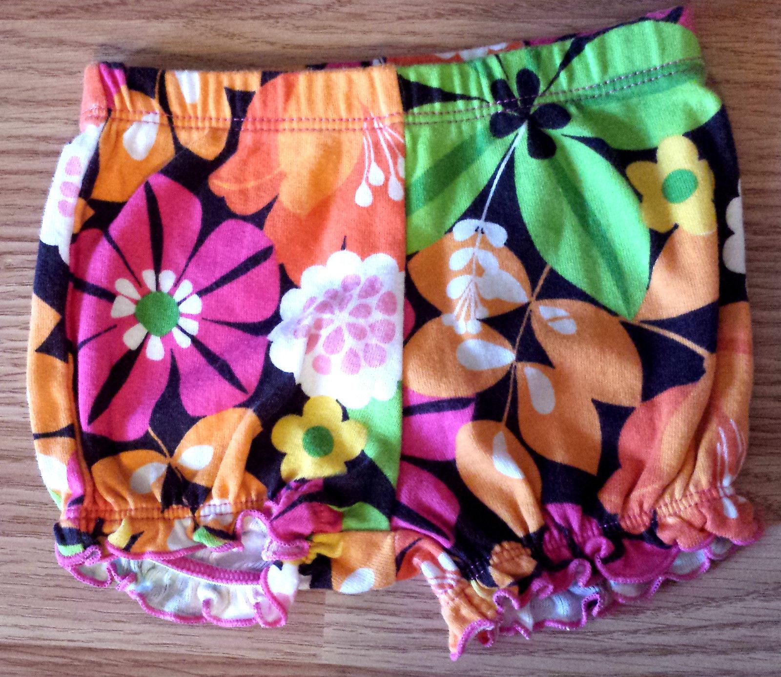 Girl's Sz 3 M Months 2 Pc Carter's Bright Pink Ruffled Tank Top, Bloomer Shorts
