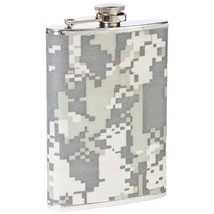 Maxam® 8oz Stainless Steel Screw Top Flask with Digital Camouflage Wrap  - €7,30 EUR
