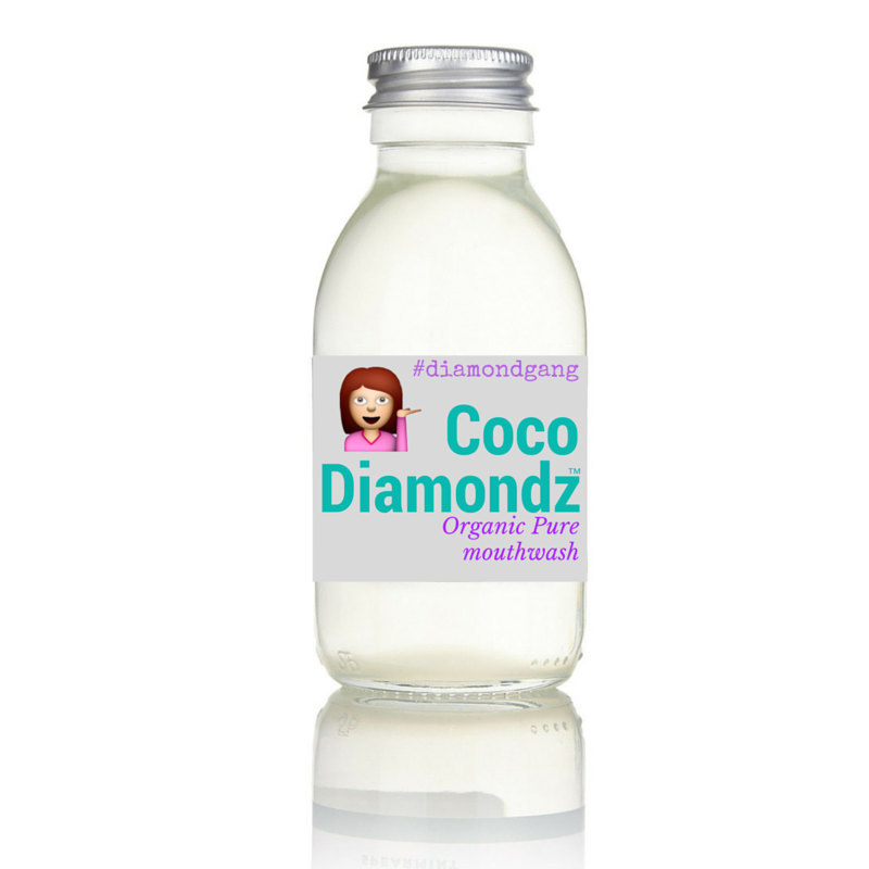 Coconut oil pulling organic mouthwash - Pure coconut Flouride free natural teeth