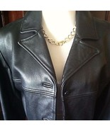 Jones New York Leather Jacket Size Medium - $98.01