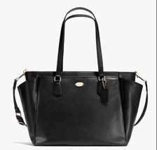 COACH Crossgrain Leather Baby Bag F35702 Black ... - $233.75
