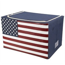Zipper Cloth American Flag Storage Bin. Ecofrie... - $32.99