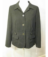 JM Collection Black Ultrasuede Blazer Size 14 - $27.00