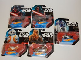 Hot Wheels 2014 Star Wars Cars ~ Darth Vader Yoda R2D2 Chewbacca BB-8 Ky... - $23.36