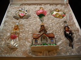 Christmas ornaments old world christmas six piece bridal set boxed 03 thumb200