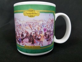 Houston Foods Currier & Ives Coffee Cup 1992 HF 31245SB Central Park Win... - $9.49