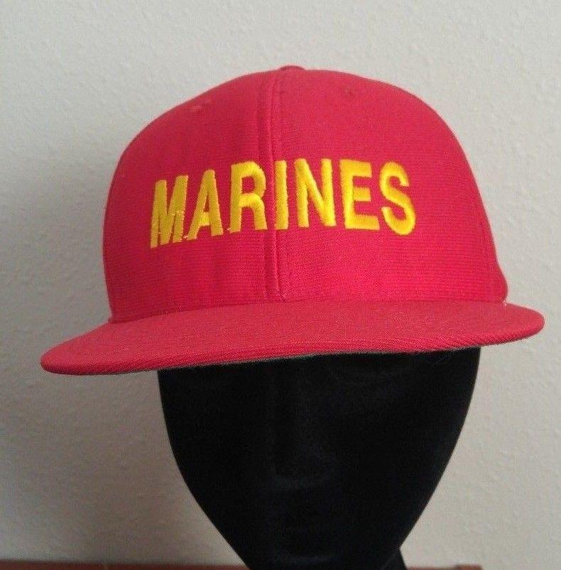 37e7d1003fa680 57. 57. Previous. Vintage USMC Marine Corps Red Yellow Trucker Hat Snapback BaseBall  Cap ...