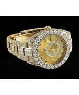 26 ct. CUSTOM diamond yellow gold rolex watch o... - $56,319.12