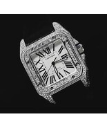 5 CT. iced out CUSTOM diamond mens cartier sant... - $9,652.50