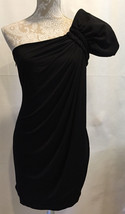 Calvin Klein Women Black One Shoulder Party Cocktail Holiday Dress Size 4 - $32.34