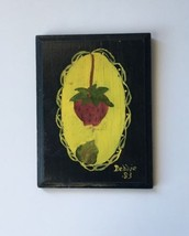 Vintage Hand Painted Strawberry Kitsch Wood Wal... - $8.00