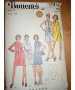 Vintage Butterick Misses Size 12 Dress Pattern #6144 - $5.99