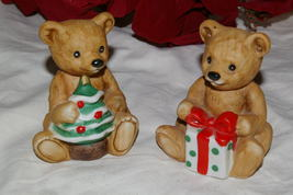 Homco Christmas Bears Pair 5505 Home Interiors - $7.00
