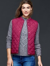 Gap Women Quilted Vest, Very berry, size XL, NWT - $45.00