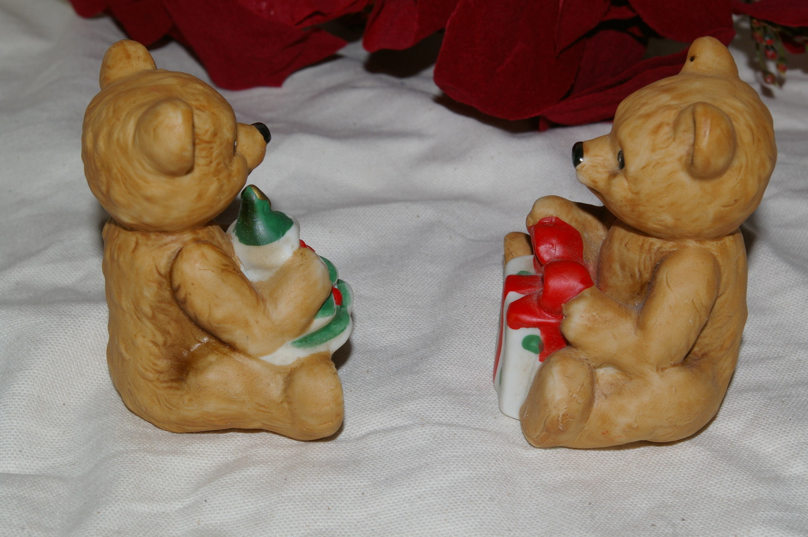 Homco Christmas Bears Pair 5505 Home Interiors
