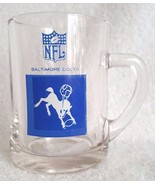 """Vintage 1960's Baltimore Colts Drinking Glass 4.45"""" Tankard NFL Football - $16.95"""