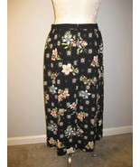 Sag Harbor Black Floral Skirt Size 12 - $19.00