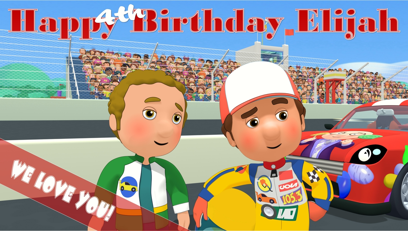 Handy Manny Custom -Personalized- Birthday Banner Party Decoration
