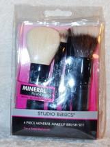Studio Basics 4 piece Mini Mineral Makeup Brush Set Disconutined - $10.99