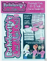Bachelorette Party Iron On Kit 6 Pc Bridal Party Bachelorette's Last Nig... - $21.99