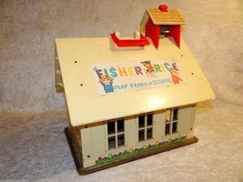 1971 Fisher Price Play family School Preschool  Chalk Board 923 - $30.99