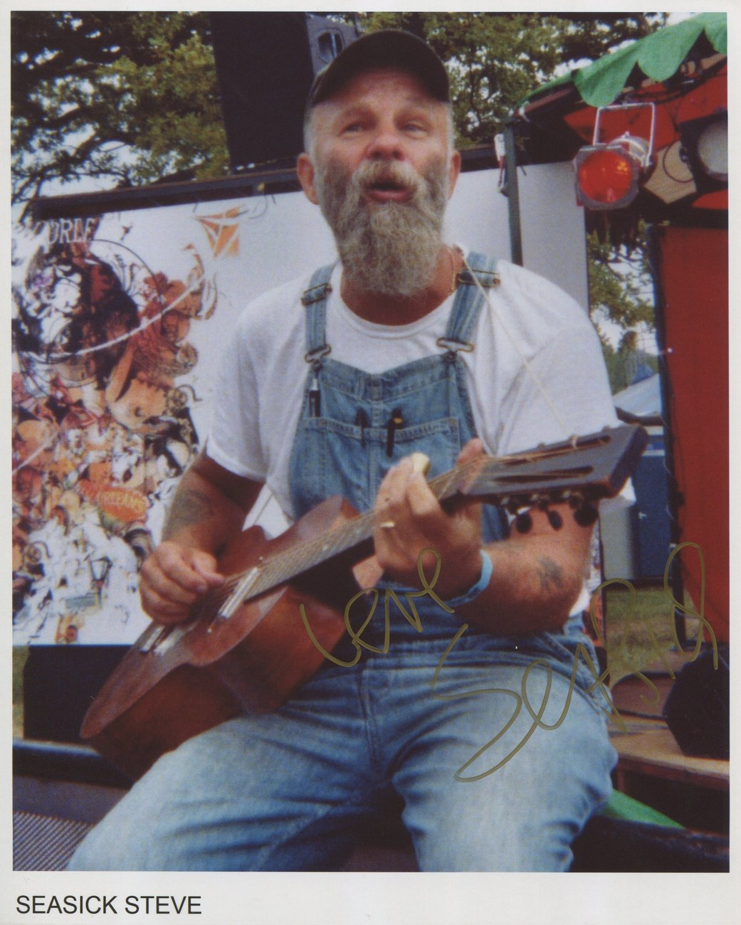 Seasick Steve SIGNED Photo + COA 100% Genuine