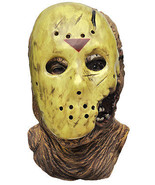 Mens Adult FRIDAY THE 13TH Deluxe Jason Voorhees Halloween Overhead Mask - £45.68 GBP
