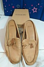 Coach Logo slides Size 8.5 M in box Flat SLIDE Loafer COACH Logo Insole top shoe - $73.50