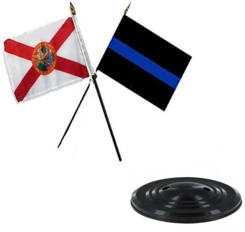 "Navy Ship USA EGA USMC Marines 3 Flags 4/""x6/"" Desk Set Table Stick Black Base"