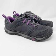 Merrell Goretex Black Purple Hiking Sneakers Women's 8.5 Trail Outdoors  - $29.70