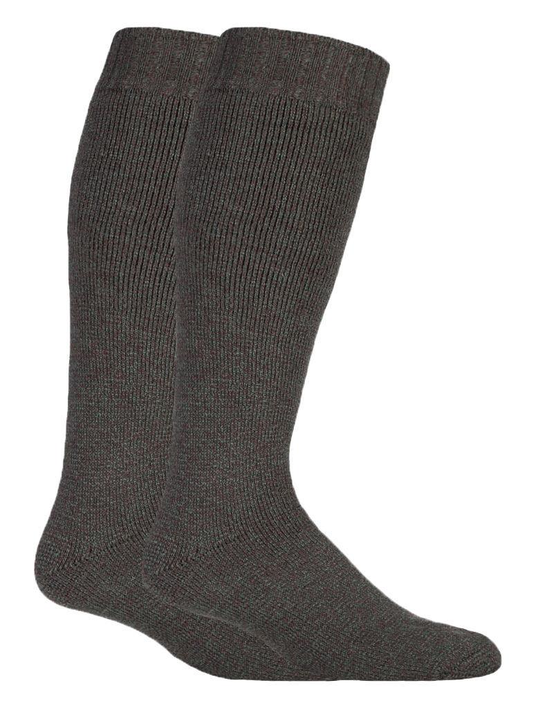 2 paires homme épaisse laine vert hautes chaussettes pour bottes caoutchouc